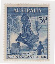 (OR-75) 1947 AU 3½d blue Newcastle MUH SG220 (L)