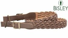 Bisley Pleated Leather Rifle Sling Shooting Hunting 1st Class Post
