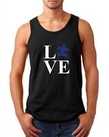 Mens Tank Top Love Puzzle Shirt Autism Awareness T-Shirt Autism Society Support