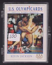 (100) 1992 OLYMPIC HOPEFULS KEVIN JACKSON WRESTLING CARDS #105 IOWA ST ~ BIG LOT