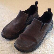 L.L. Bean Slip On Brown Suede Winter Moc Shoe Casual Loafers Women's 8.5