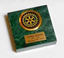Rotary International 100th Anniversary Marble Paperweight - 2/23/05 Celebration