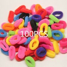 100PCS Colorful Elastic Rope Ring Hairband Women Girls Ponytail Holder Hair Band
