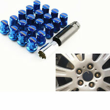 Blue Racing Car Wheel Rim Lug Nut Lock Bolt Set M12x1.5mm For Ford 20pcs