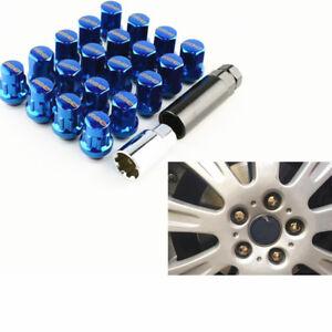 Blue Racing Car Wheel Rim Lug Nut Lock Bolt Set M12x1.5mm For Ford 20pcs