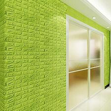 3D Foam Stone Brick Wallpaper DIY Wall Home Office Background Sticker Panel Deca