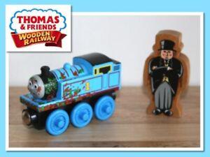 Thomas The Tank Engine Wooden Railway Train MUD COVERED THOMAS & SIR TOPHAM HATT