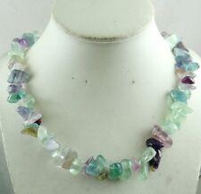 Beautiful Rainbow Fluorite Handmade Gemstone Jewellery Necklace R18