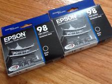 2x NEW IN BOX - EPSON 98 - BLACK Ink Artisan 700 710 725 730 800 810 830 835 837