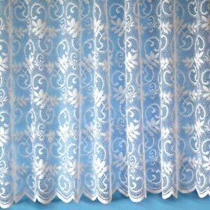 White Net Curtain Sold by Yard - SQUARE, FLORAL, LUXURY LACE CHEAP GOOD QUALITY