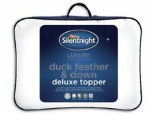 SILENTNIGHT KING BED MATTRESS TOPPER DUCK FEATHER AND DOWN LUXURY BEDDING NEW