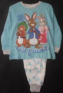 PETER RABBIT Pyjamas/Unisex Blue & White Boy's /Girl's PJs Sizes 3-4 & 5-6 Years