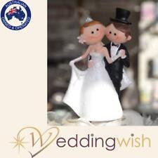 Wedding Bride and Groom Figurine Cake Topper, Novelty Bride and Groom, Dancing