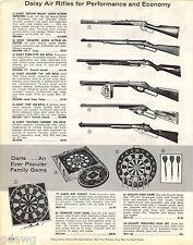 1963 ADVERT 2 PG Daisy Air Rifle BB Gun Spittin Image Pump Type Crosman Hahn 18
