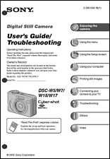 Sony DSC-W5 W7 W15 & W17 Cyber-Shot Operating Guide Instruction Manual