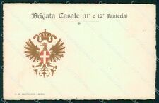 Militari 11º 12º Reggimento Fanteria Brigata Casale cartolina XF4391