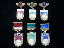 Set of 6 USSR Soviet Badge Sports Society TRUD Champion Rowing Winner 1-2-3