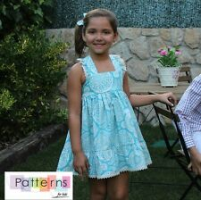 PDF DIGITAL PATTERN+Youtube TUTORIAL sew spanish DRESS Baby Babies Girls 1-10Y