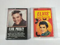 Lot of 2 ELVIS PRESLEY A Valentine Gift For You Gold Records Cassette Tapes
