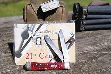 CASE XX 2000 KNIFE POSTCARD RED BONE TRAPPER KNIFE RARE 1 OF 110 MADE PAT. 6254
