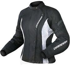 4XL/22 Ladies Dririder Vivid Jacket Dri Rider Womens Black White Motorbike