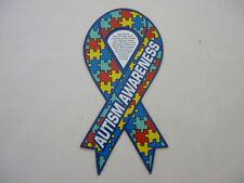 "Autism Awareness Puzzle Ribbon Car Magnet  8"""