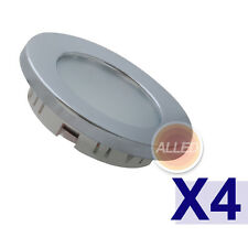 4X12V Cool White LED Recessed Down Light Chrome Plated Super Bright Caravan Lamp