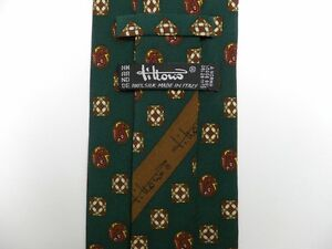 """Vintage Green Paisley TITTORIO Silk Tie 3.5"""" Wide 58"""" Long"""