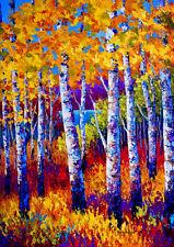 "Autumn Fall Blissful Birches Birch Tree Garden Flag 18"" x 12.5"""