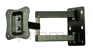 TV-Wandhalterung, quipma 312, schwenkbar, schwarz, 15-27 Zoll, bis VESA100, 18kg