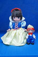 Snow White & Happy Vinyl Doll Set Disney Dwarf Precious Moments 1862 Signed
