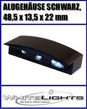 LED Kennzeichen Nummernschild Beleuchtung Alu Gehäuse schwarz Motorrad