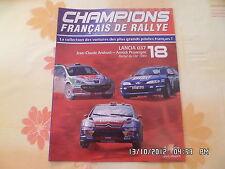 MAGAZINE CHAMPION FRANCAIS DE RALLYE N°18 LANCIA 037 RALLYE DU VAR 1984