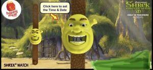 2010 Shrek Forever After McDonalds Toy Watch - Shrek #1 NEW