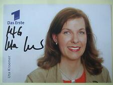 "Autogrammkarte: ""Uta Kroemer""- ARD / MDR - handsigniert"