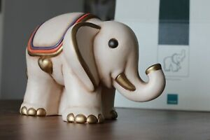 THUN Elefante Grande in Ceramica NUOVO con Scatola Originale