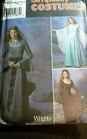 Simplicity 9891 Renaissance Medieval Dress Gown Costume 14 16 18 20 uncut