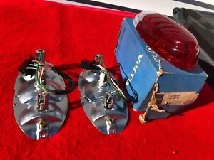 Classic Volvo Tail Light Housings and Tail Light Lens NOS