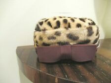 """OUTSTANDING VINTAGE STENCILLED SPOTTED CAT FUR HAT BY """"RUTH SHEA"""""""