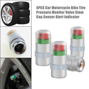 4PCS Car Truck Bike Tire Pressure Monitor Valve Stem Cap Sensor Alert Indicator