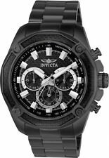 Invicta Men's Aviator Chronograph 100m Black Stainless Steel Watch 22807