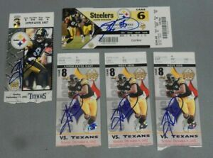 Hines Ward, Signed Steelers Ticket Lot - Five (5) Total, Decent