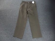 TOMMY BAHAMA RELAX Chocolate Brown Silk Blend Pleat Front Dress Pants 32 DD8563