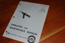 Miller Welder Mhg 500 Gun Spare Owner Operator Operation Maintenance Manual Mig