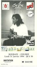 RARE / TICKET BILLET CONCERT - STEPHAN EICHER : LIVE A ROUBAIX ( FRANCE ) 1994