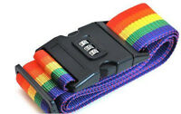 1.7M Long-Luggage  Baggage Cross Strap Belt With Secure Coded Lock Rainbow 2DF