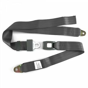 2pt Charcoal Lap Seat Belt Standard Buckle - Each Street Rat Hot Rod Truck GM