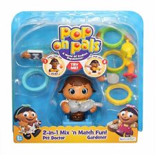 Pop On Pals -Gardener and Pet Doctor 2 in 1  Mix & Match Fun NEW