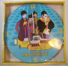 YELLOW SUBMARINE WALL CLOCK pop art kitsch The Beatles Lennon/McCartney/Harrison