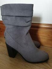 New look grey boots size 7 eu 40 new
